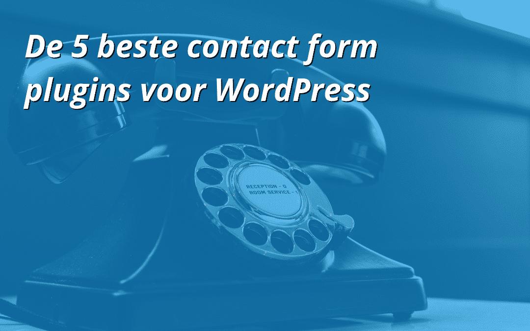De 5 beste contact form plugins voor WordPress